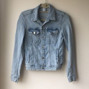 H&M distressed jean jacket